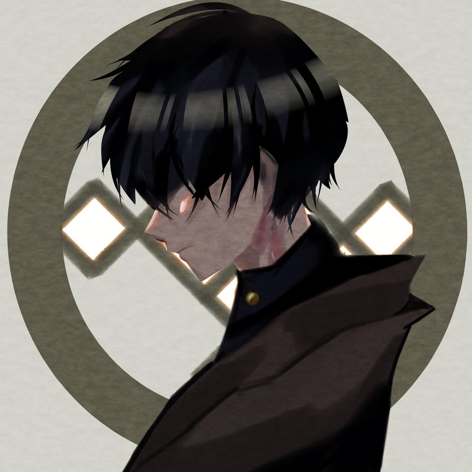 月 Illust of ンリデエ medibangpaint Japanese_style freeprofilepic boy oc original