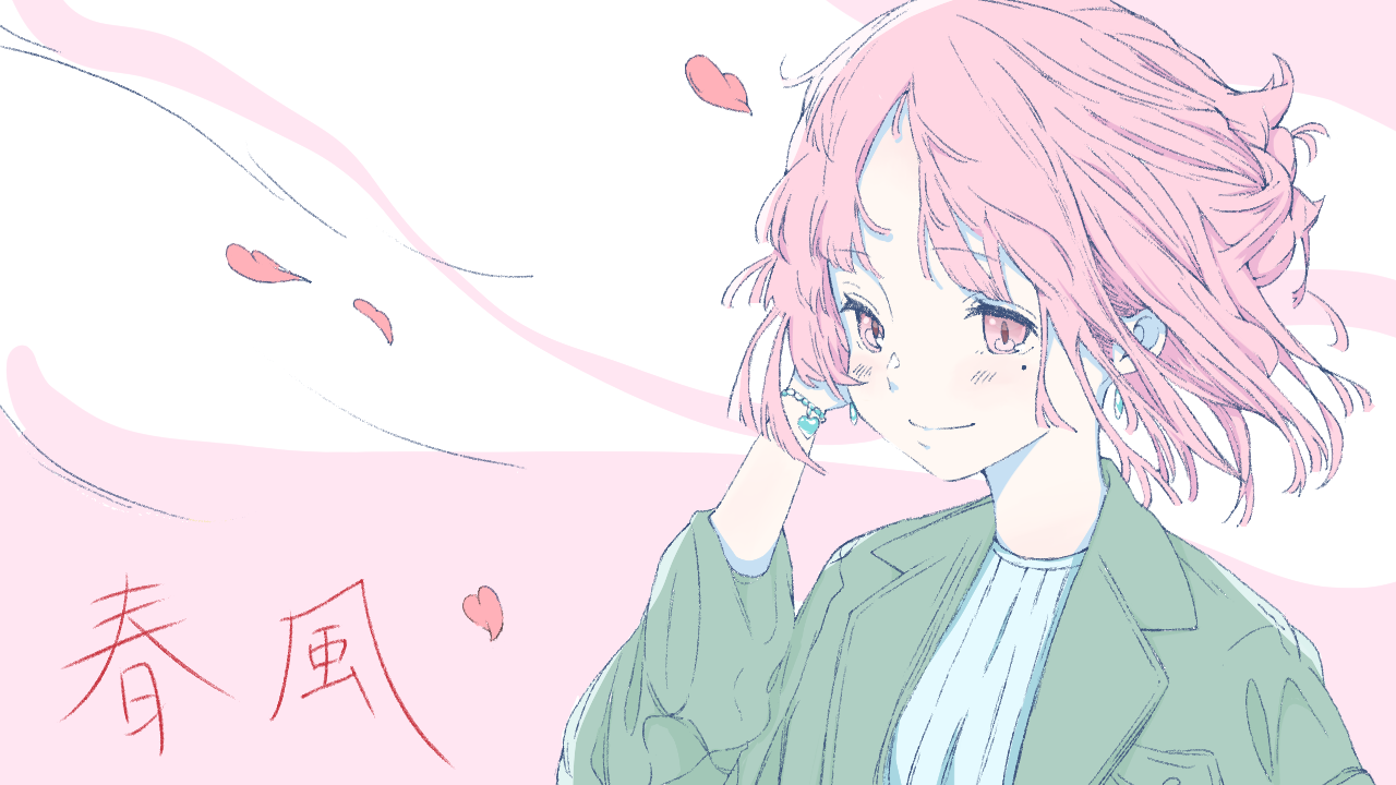 春風 Illust of 馬(UMA) illustration girl Illustrations イラストレーション original 春 oc おんなのこ