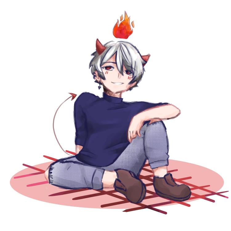 Bad Little Devil  Illust of JLaine31 medibangpaint animeboy anime jonartist CuteBoy DevilAnime JonArtist