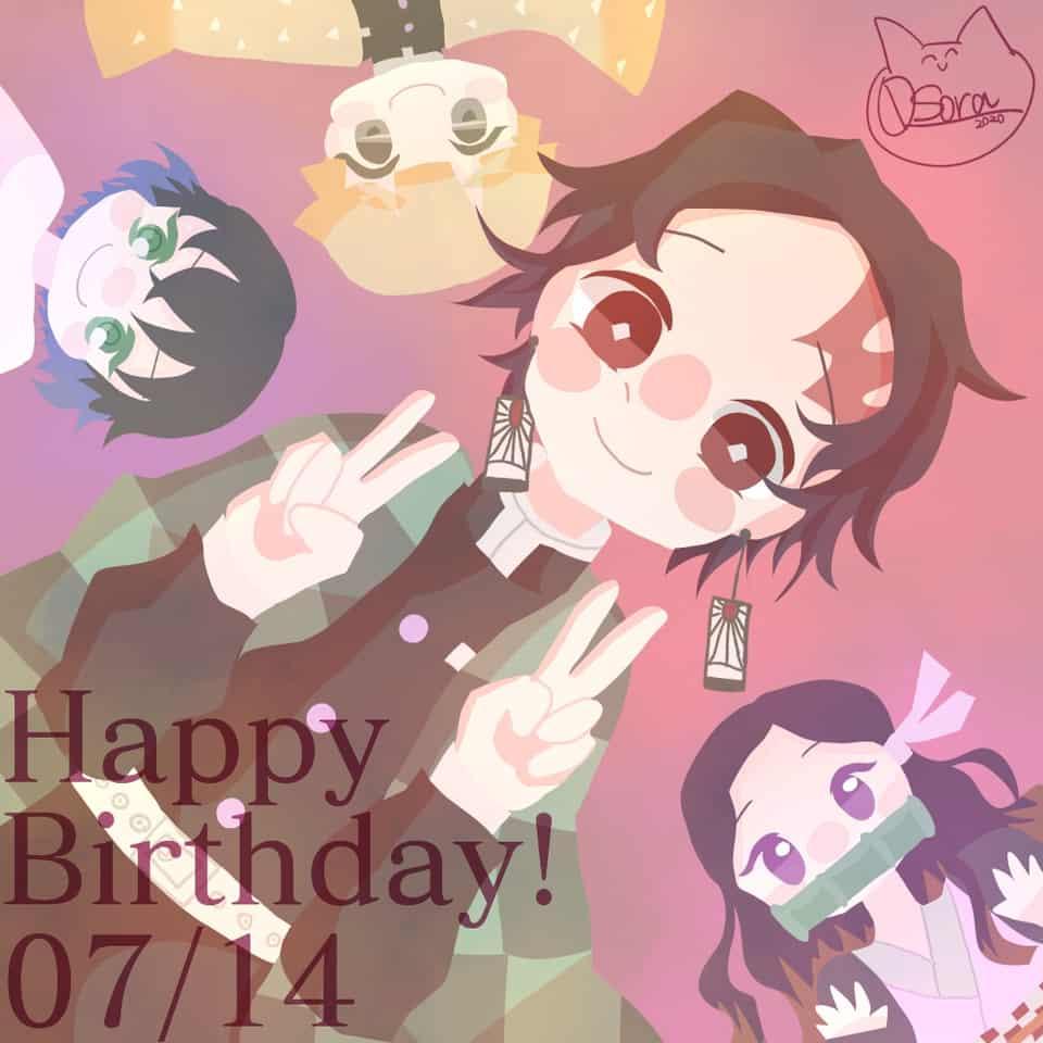 Happy Birthday 炭治郎! Illust of OSora KamadoTanjirou かまぼこ隊 KimetsunoYaiba 誕生日イラスト