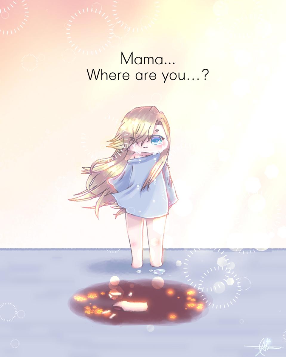 i'm not alone.... Illust of Qiya Art tears girl aesthetic sad