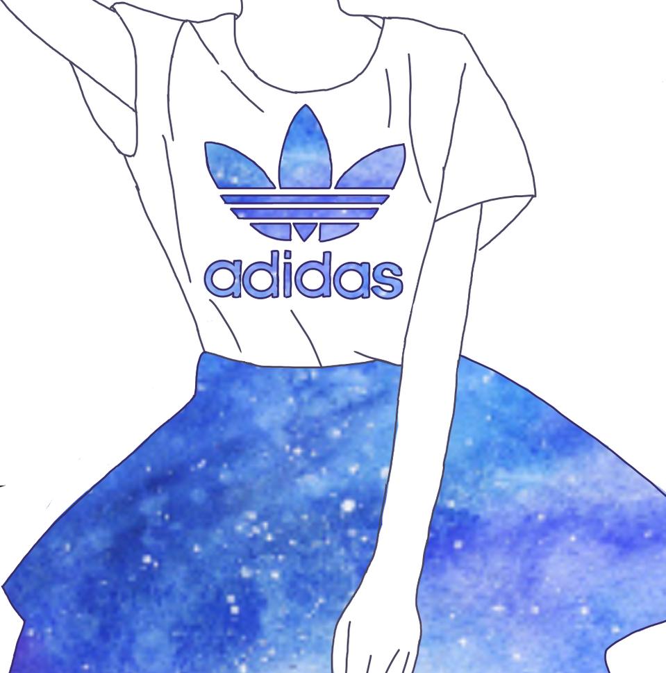 Adidas 青 女の子 Sawa イラスト アートストリートart