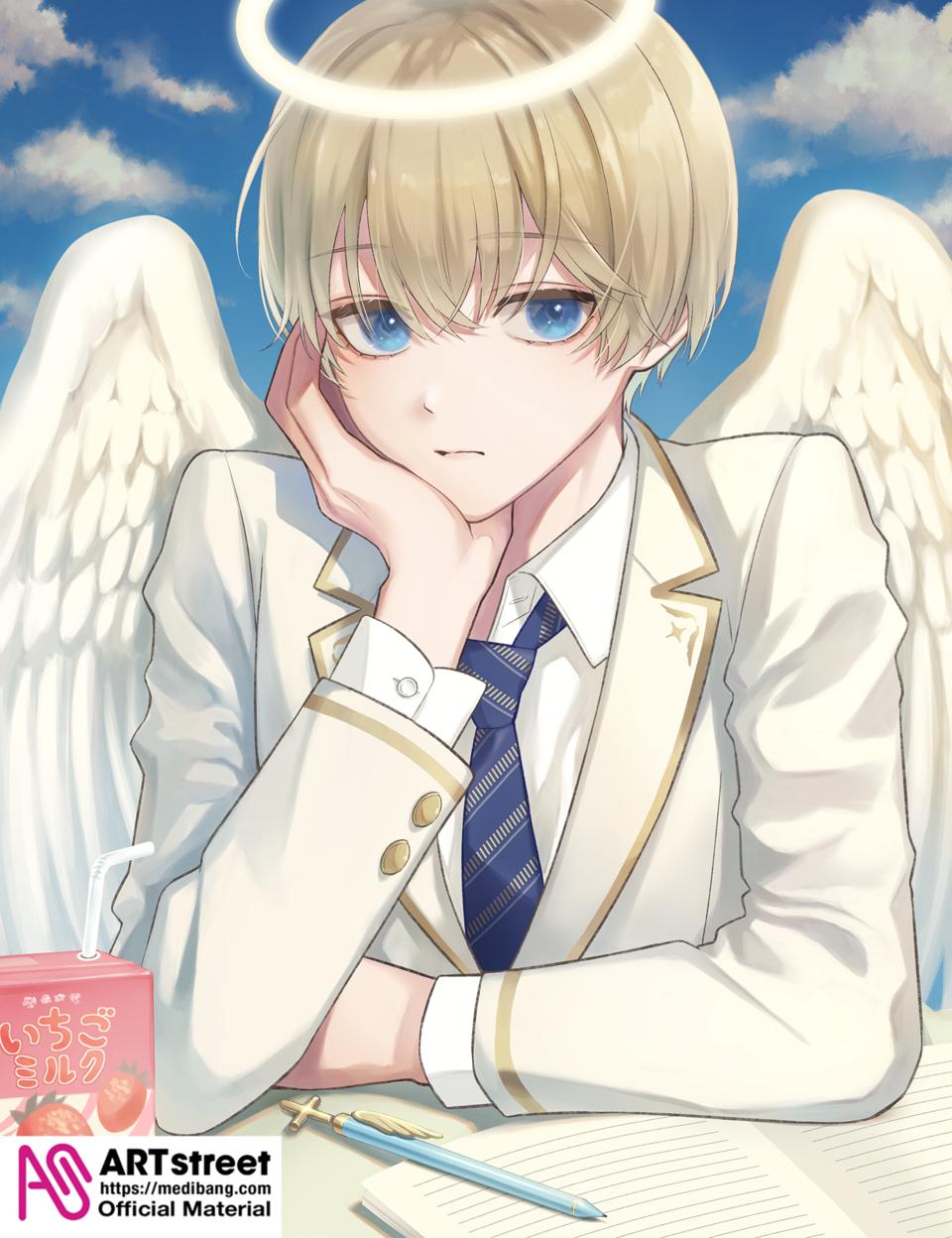 昼下がりの天使 Illust of まこ tracedrawing4th original angel Trace&Draw【Official】 boy CLIPSTUDIOPAINT oc