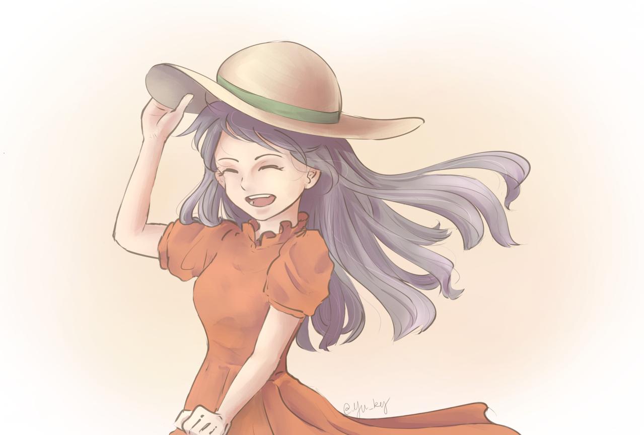 野餐少女 Illust of pol_bel doodle painting 電繪 smile medibangpaint illustration 畫畫 illustrations doodles