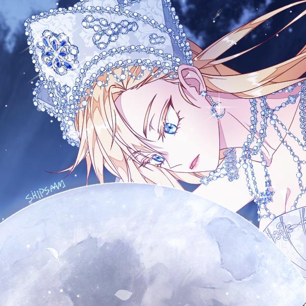 Moon Illust of 십삼 original girl oc moon
