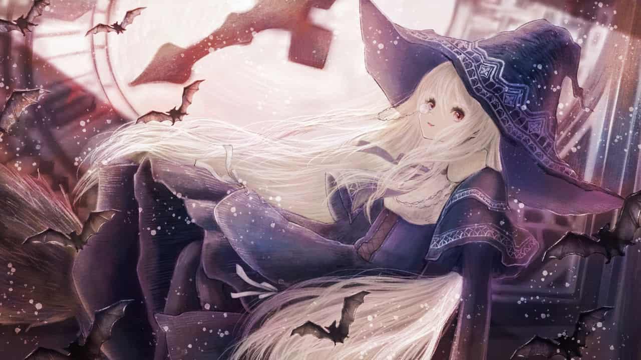 時計塔の魔女 Illust of 伊砂祐李 (Yuri Isa) fanart witch 時計塔 white_hair girl コウモリ