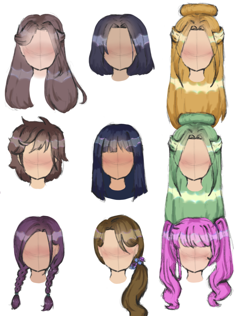 ✨ hair practice ✨ Illust of AnonymouseSaysHoooi colored sketch daily_doodlez hair practice finished