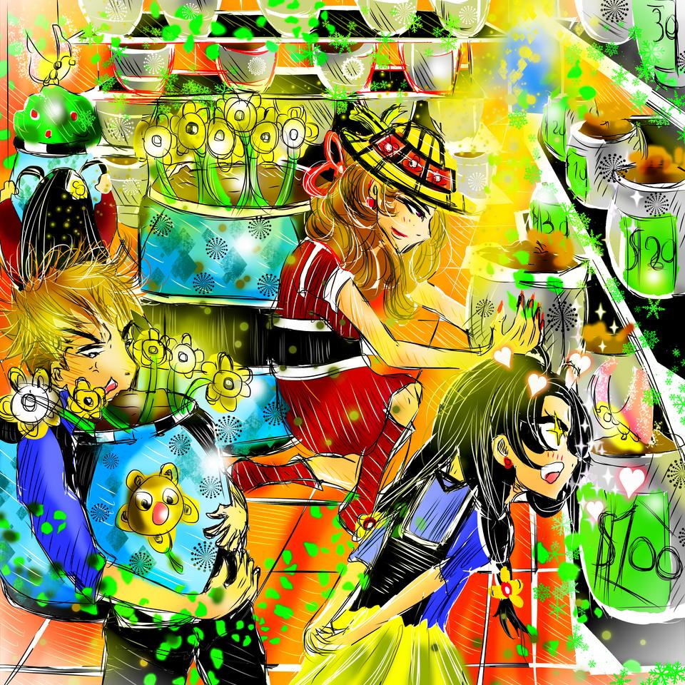 Sale of flower pots Illust of AcP April2021_Flower