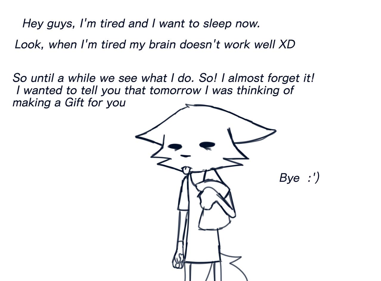 I'm tired, but... Illust of ... medibangpaint afadsdfsffsgfhhg,