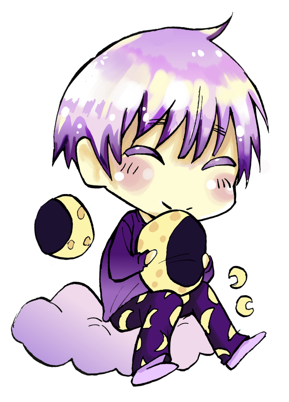 MOON Illust of Nass cute moon cuteboy boy chibi purple