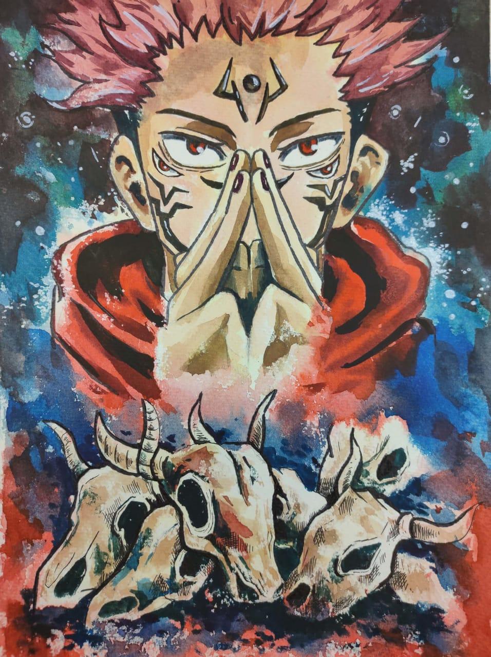 兩面宿儺 Illust of 佑子 JujutsuKaisenFanartContest JujutsuKaisen