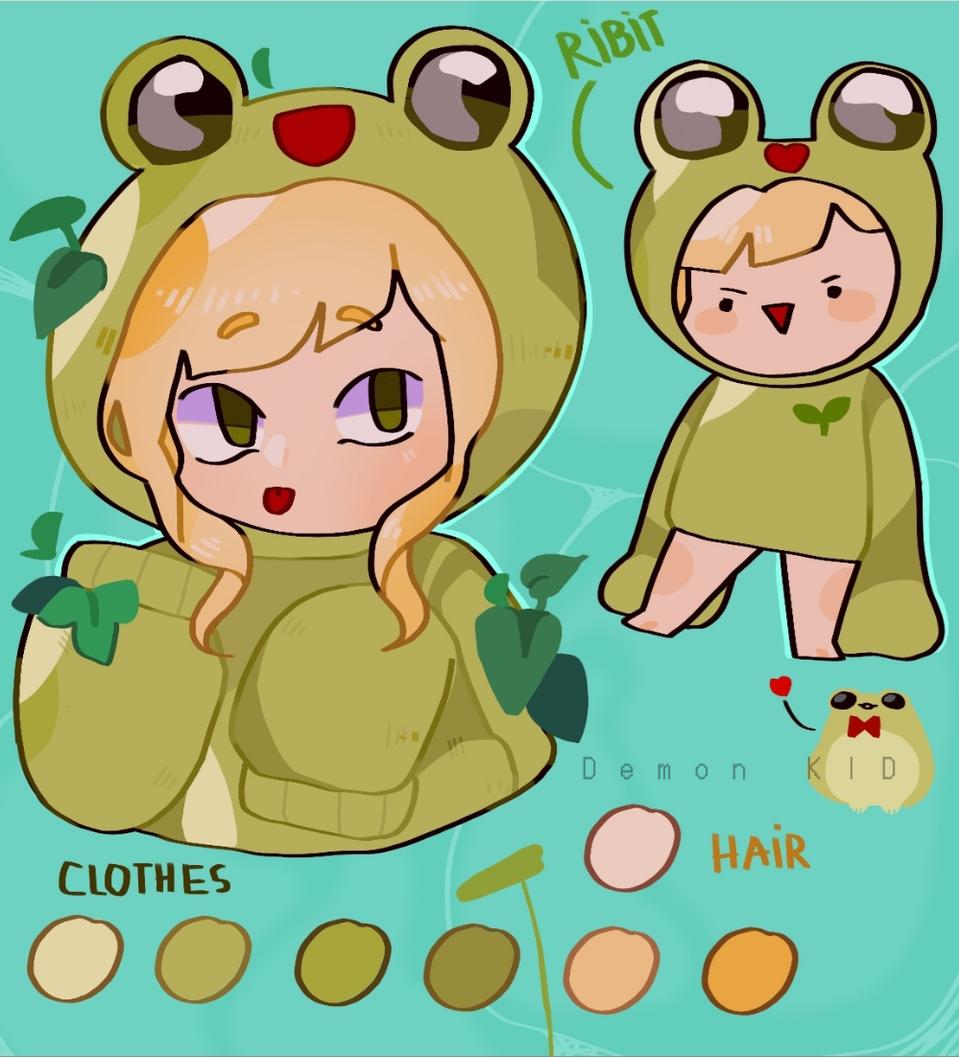 Howie new oc' Illust of Demon KID January2021_Contest:OC medibangpaint hoodie Girls girl Plants oc cute character water green