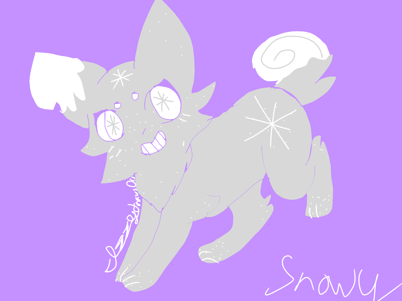 snowy the doggo