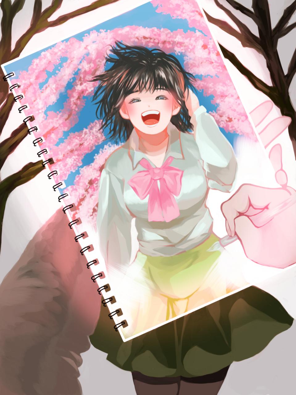 桜が咲いたら Illust of さや Original_Illustration_Contest