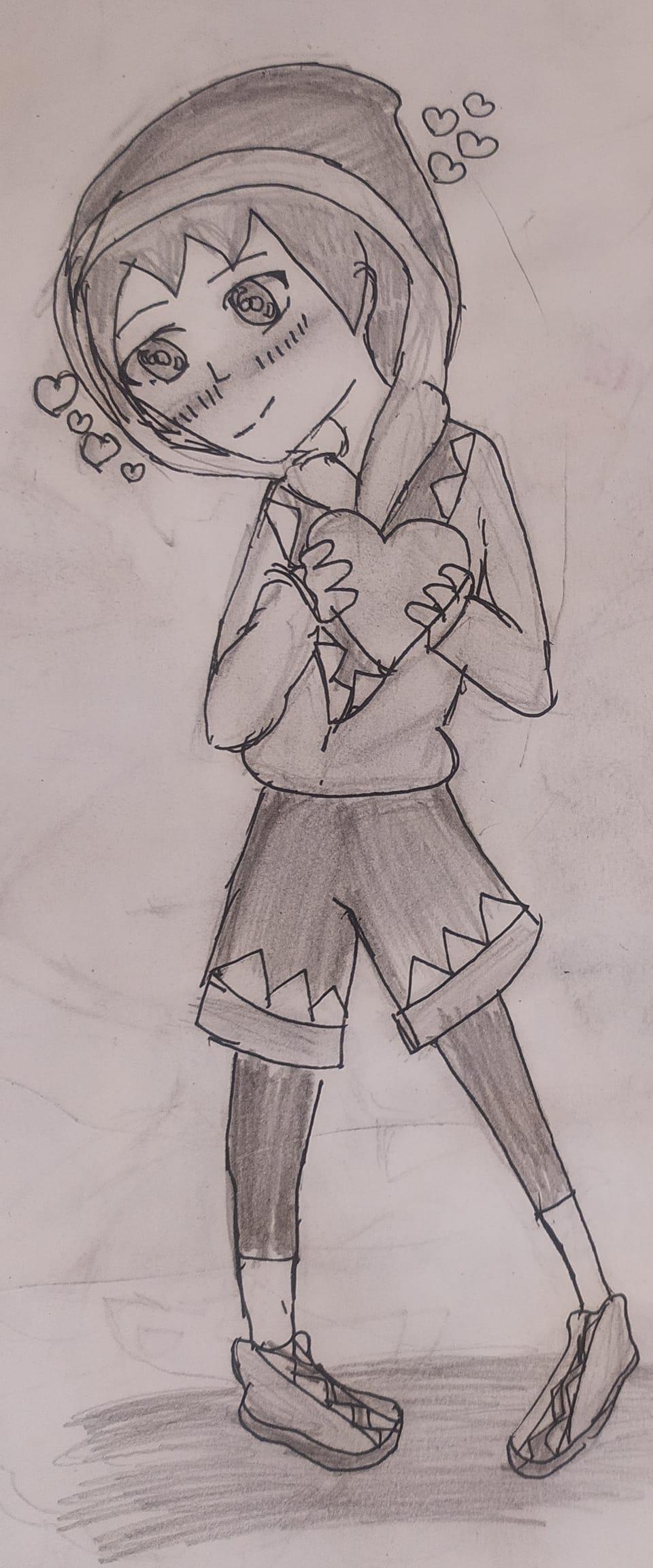 What a Idiot I am 😅(read des)  Illust of Adya January2021_Contest:OC oc sketch animegirl black anime adya random
