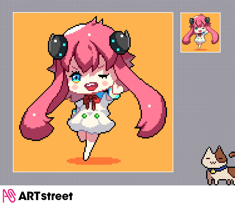 ART streetイラスト講座-第24弾- ドット絵の描き方 Illust of ART street The_Challengers DrawingLessons tutorial pixelart