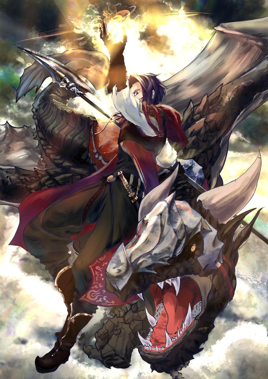 竜騎士 Illust of 沼野ぬー fantasy original dragon