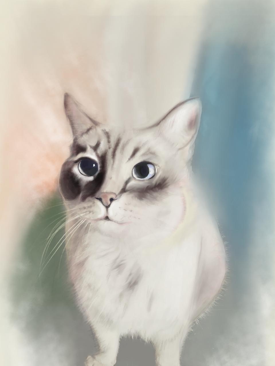 Friend  Illust of Sunevto ARTstreet_Ranking September2020_Contest:Furry medibangpaint watercolor animal furry original cat eyes