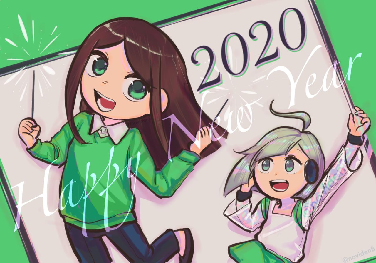 Happy New Year 2020 Illust of 00novi newyear original sparklers webtoon fireworks 2020 HappyNewYear
