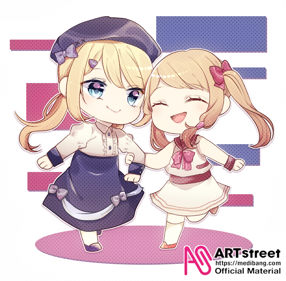 Together forever! Illust of Icyteapot tracedrawing2 Trace&Draw【Official】 medibangpaint friend chibi