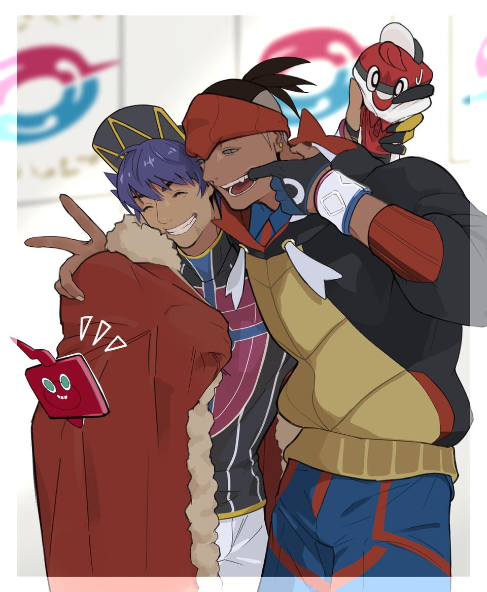 ニッコリ〜 Illust of うずべ medibangpaint PokémonSwordandShield ダンデ キバナ(ポケモン) キバナ ダンデ(ポケモン)