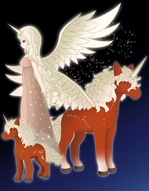Unicornio Helena (Summoners War) Illust of Lexus medibangpaint