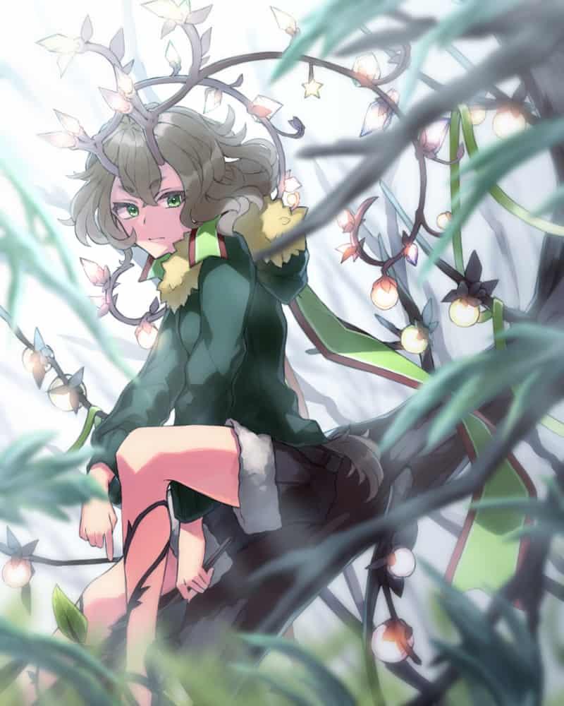トナカイ角 Illust of ひじり fantasy dec.2019Contest horn girl green