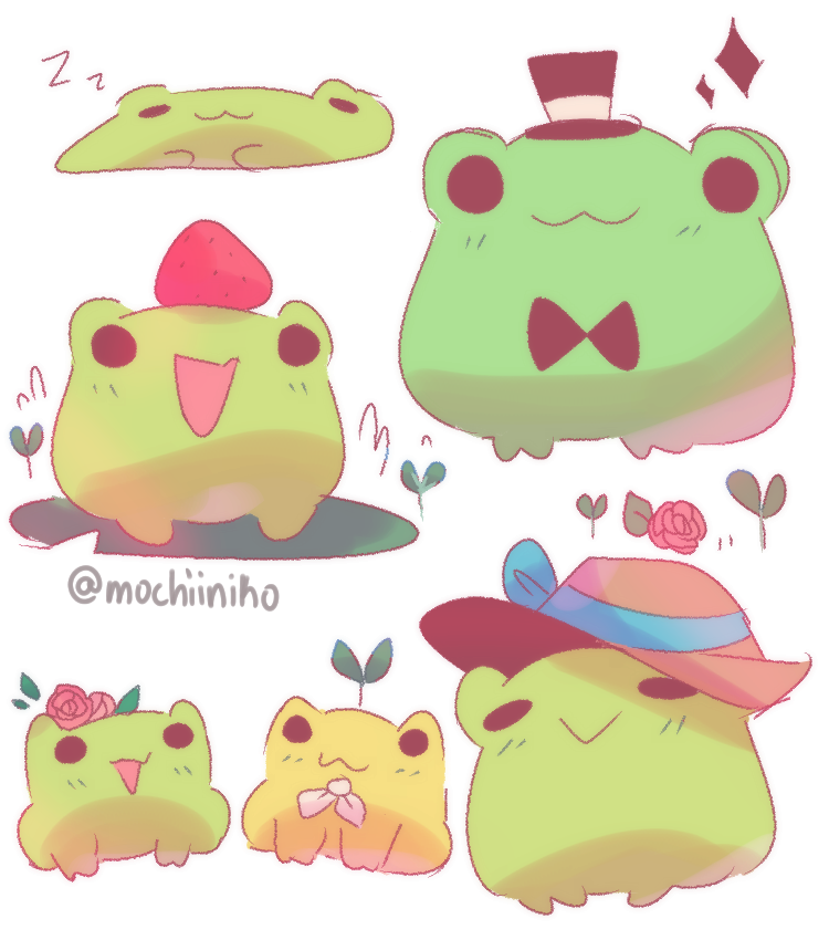 request from leafperson Illust of MochiiNiko medibangpaint cute request Frog kawaii drawing green digital