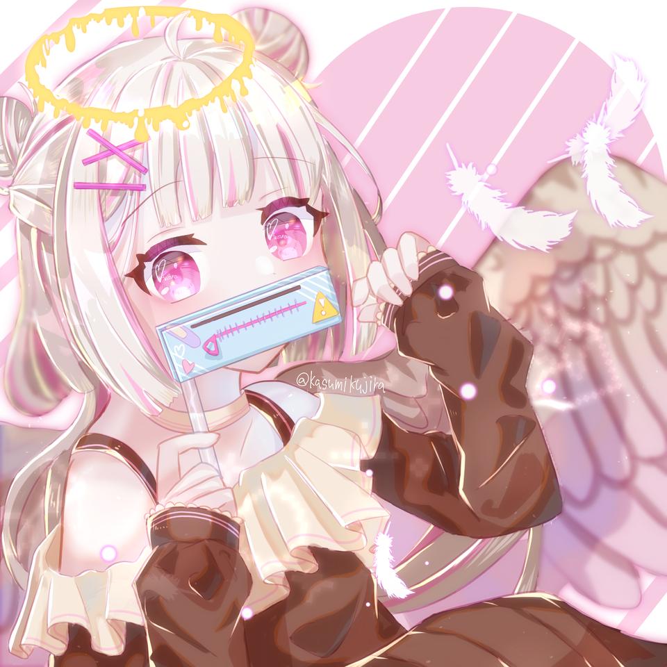 🤐👼🦆【リク絵】 Illust of 冬路くじら ARTstreet_Ranking_Contest illustration angel pink girl oc