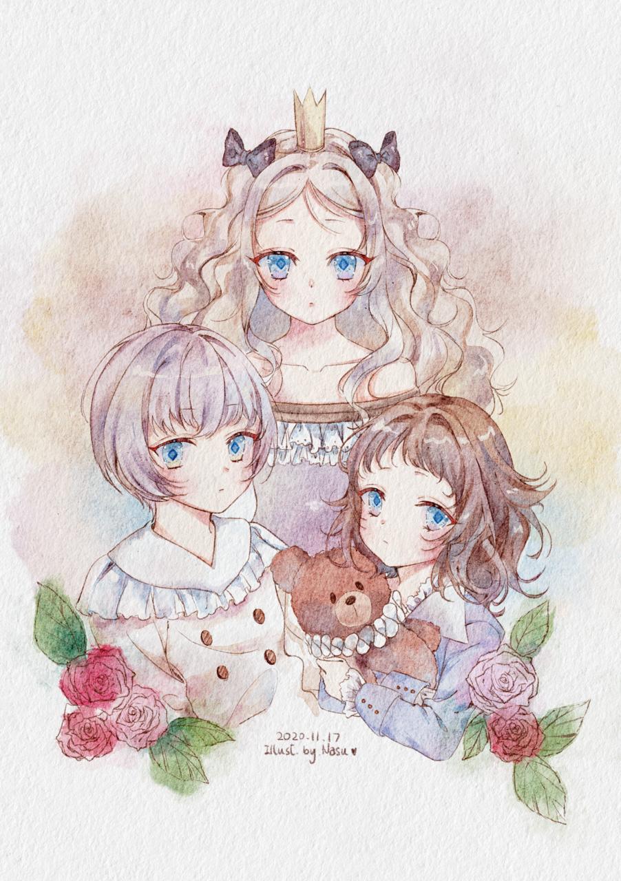王族 Illust of 茄子ナス January2021_Contest:OC rose lolita Prince 水彩風 王子 王族 姫 procreate flower princess