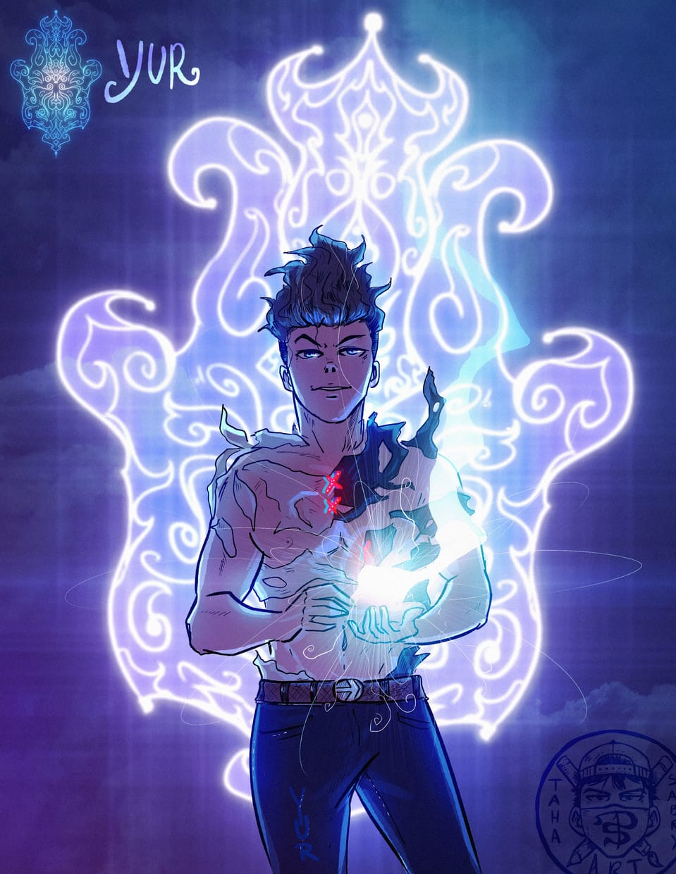 Yur Illust of taha sabry January2021_Contest:OC original art artist character