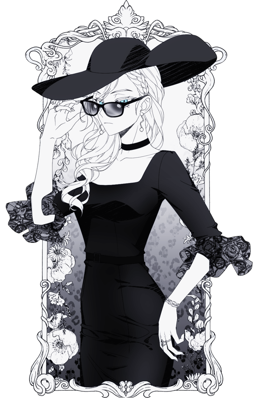lady Illust of 십삼 May2021_Monochrome oc girl original