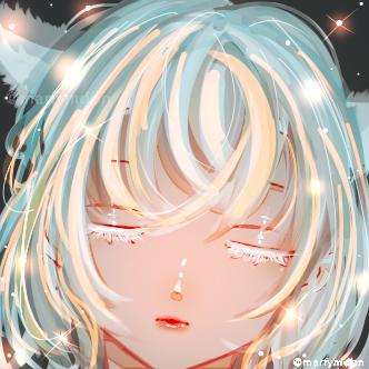 Winter? Illust of Marfy impasto メルヘン きらきら kawaii cat_ears girl white_hair portrait