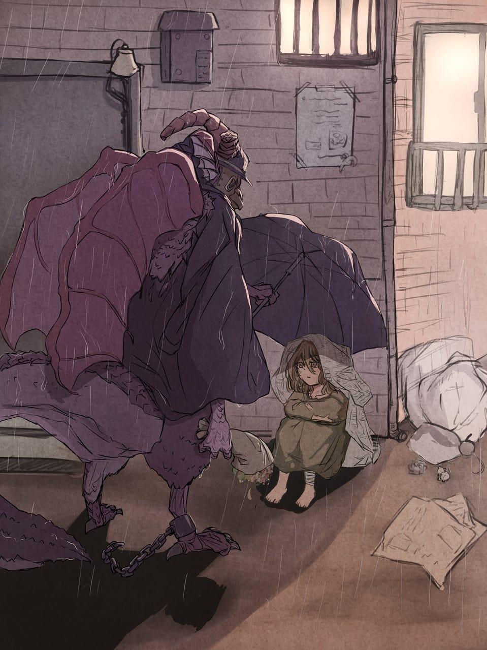 誰よりもやさしいひとでした Illust of rinte March2021_Creature original 人外×少女