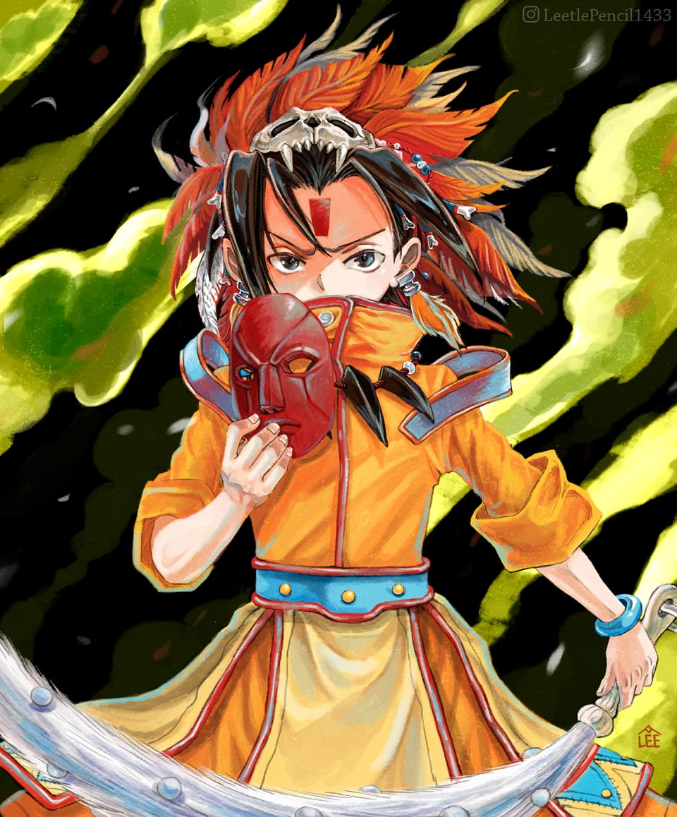 麻仓叶 Illust of Charmaine Lee SHAMANKING 巫女 illustration witches illustrations anime 动漫人物 wizard animeart