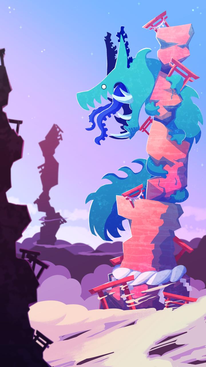 曙-AKEBONO- Illust of コ゚コ゚コ゚ March2021_Creature oc dragon monster original