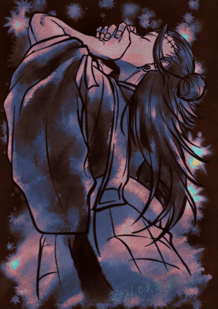 呑み込む。 Illust of 青。 JujutsuKaisenFanartContest JujutsuKaisen 夏油傑