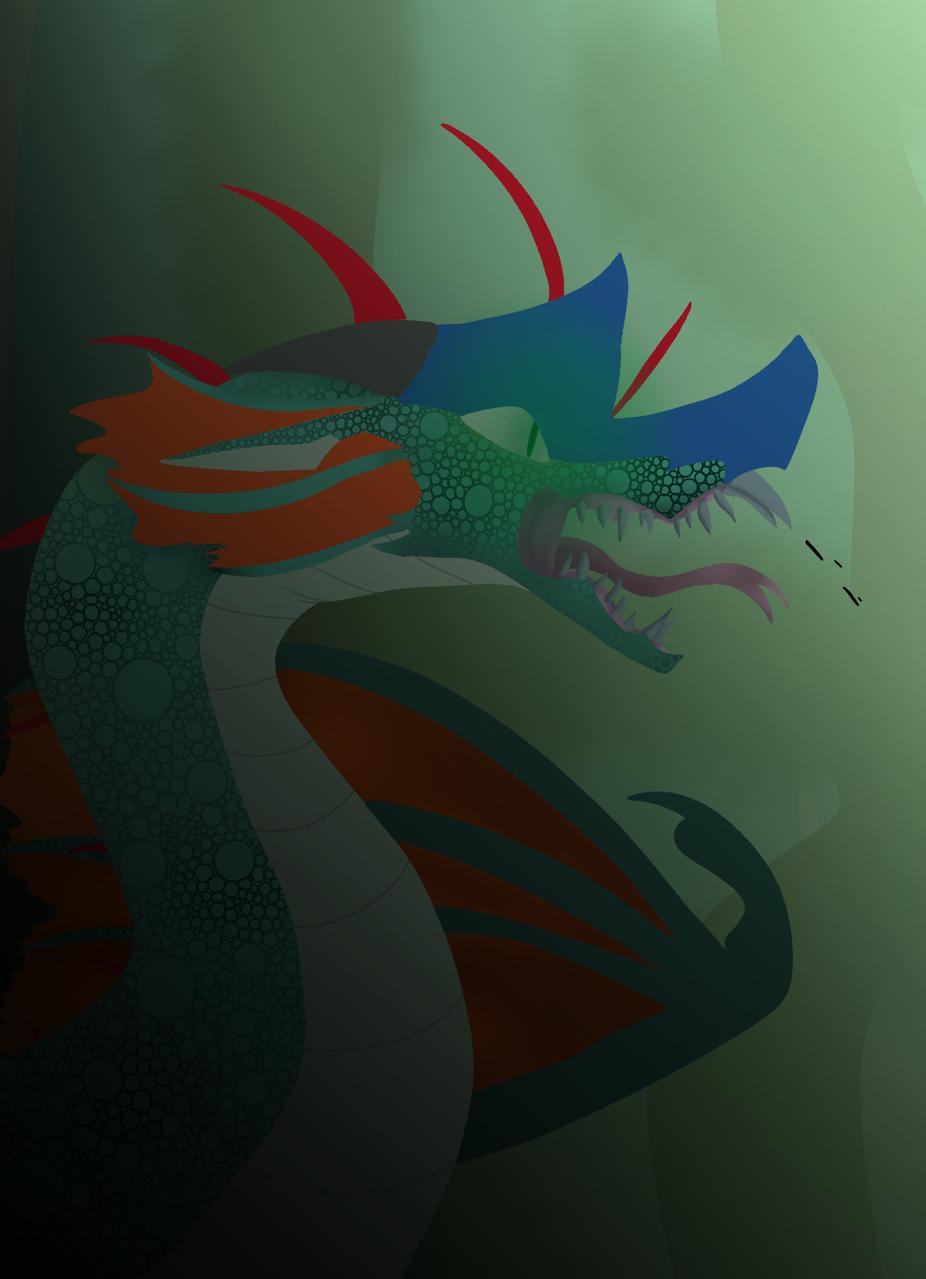 Attempting to draw glory Illust of Dragonfruit the icewing/rainwing medibangpaint