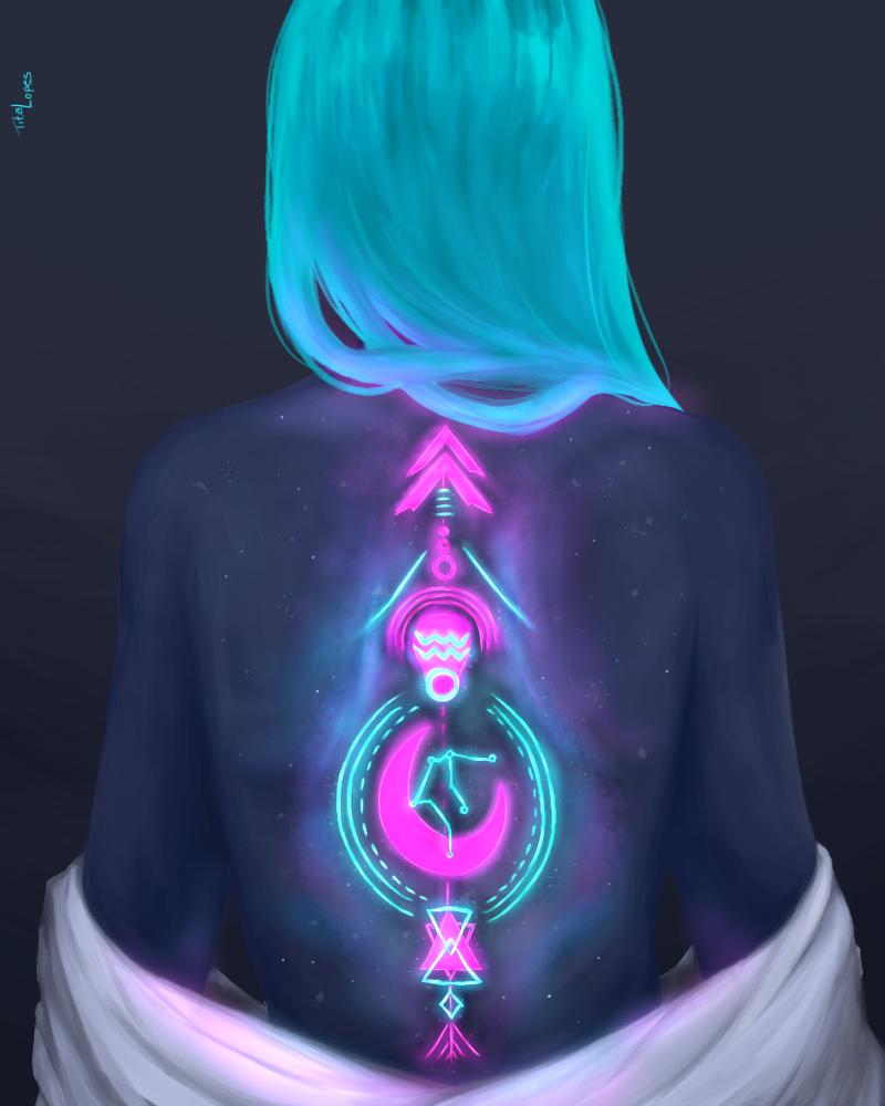 Aquarius Illust of Tita medibangpaint girl digitalpainting digital illustration medibang
