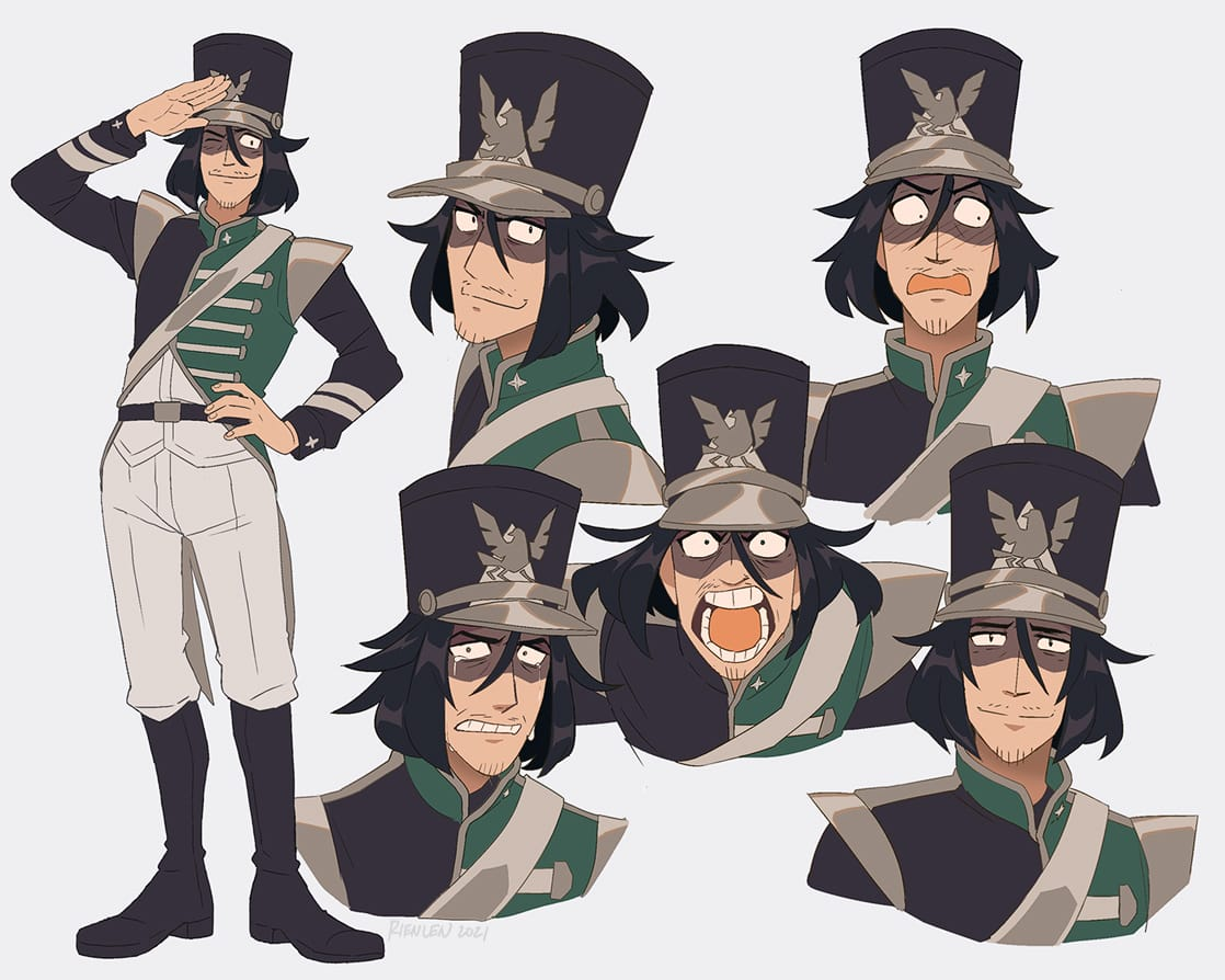 hat clique [b] Illust of rienlen characterdesign uniform oc
