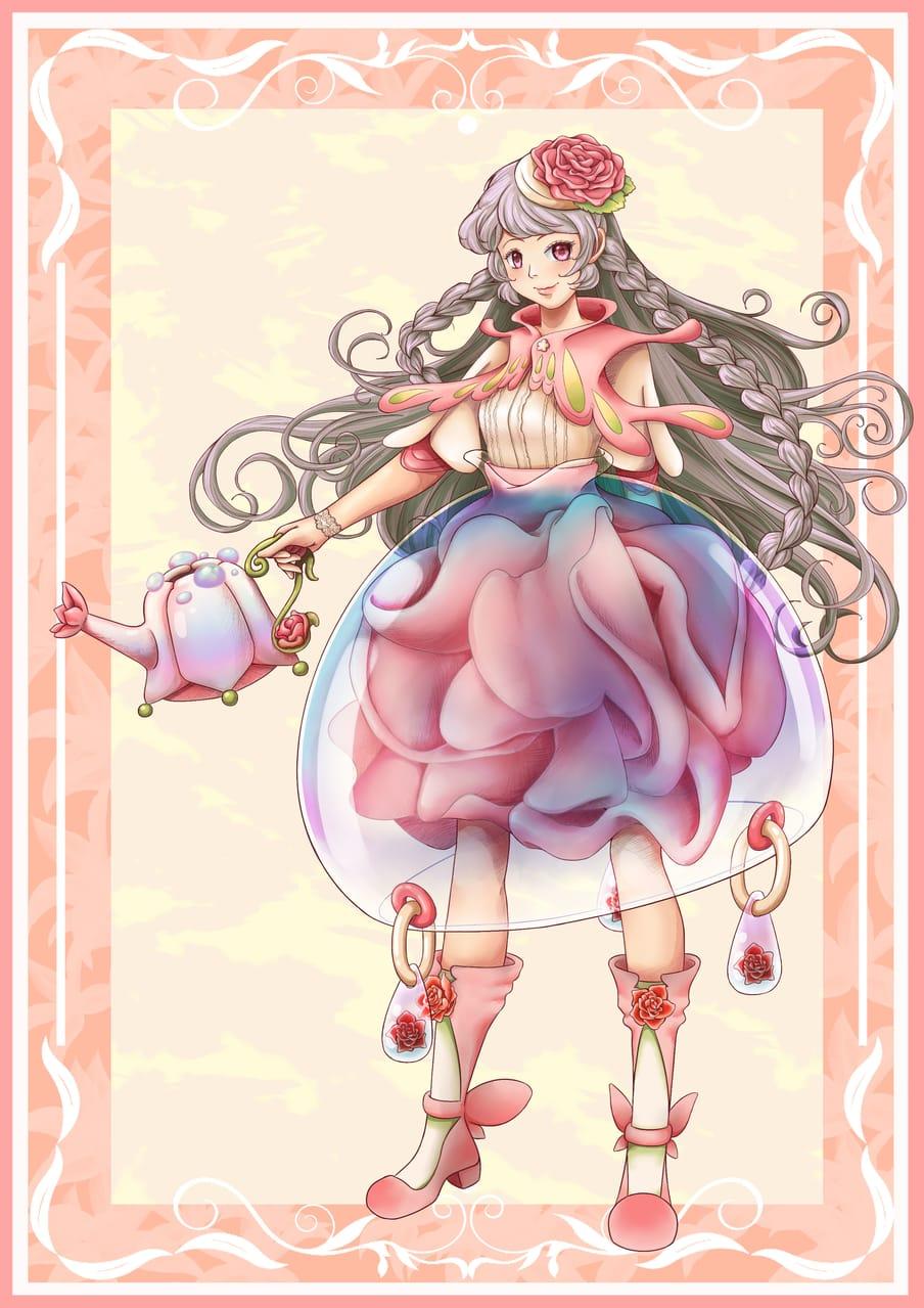 露珠 Illust of 猫雨 January2021_Contest:OC April2021_Flower
