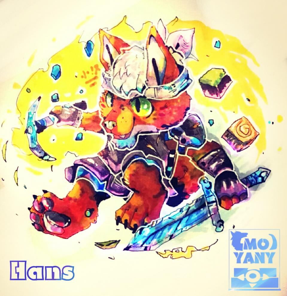 🐾 Hans dog 🐾 Illust of ΜΟ Γιανγκ[墨陽] medibangpaint handdrawn dog 墨陽 兽人 我的世界