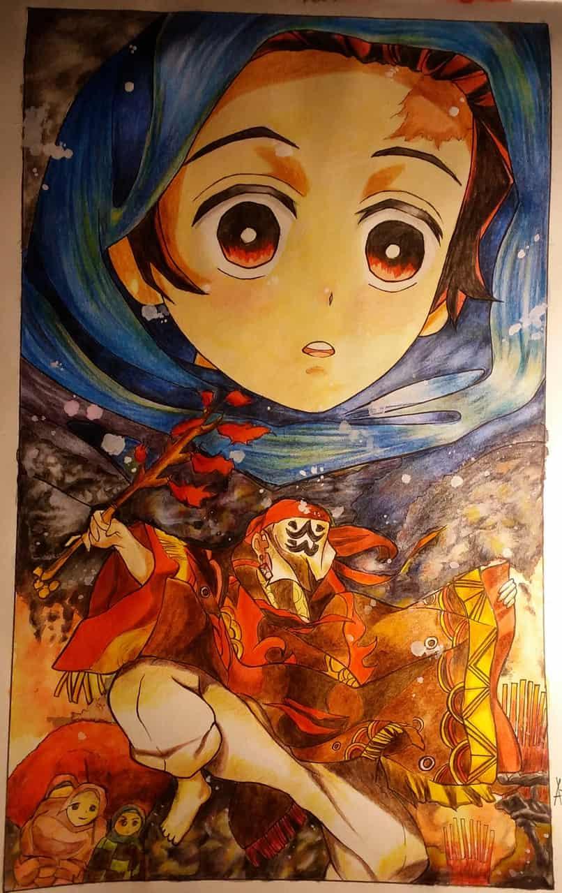 baby tanjiro Illust of DouXoN DemonSlayerFanartContest KamadoTanjirou medibangpaint KimetsunoYaiba