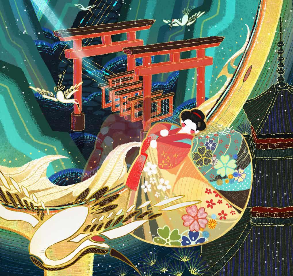 交织成服 Illust of 木垚知马力 Kyoto_Award2020_illustration kimono