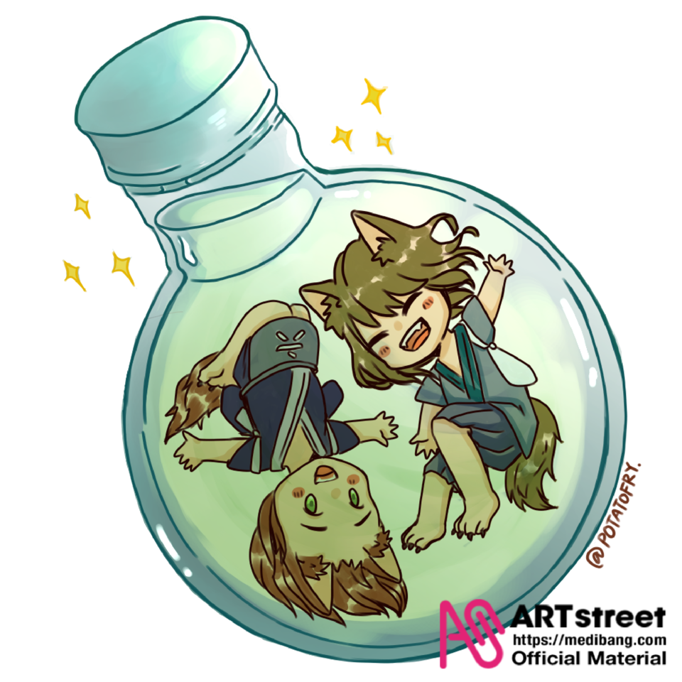 potion cat Illust of popatofry tracedrawing3rd Trace&Draw【Official】