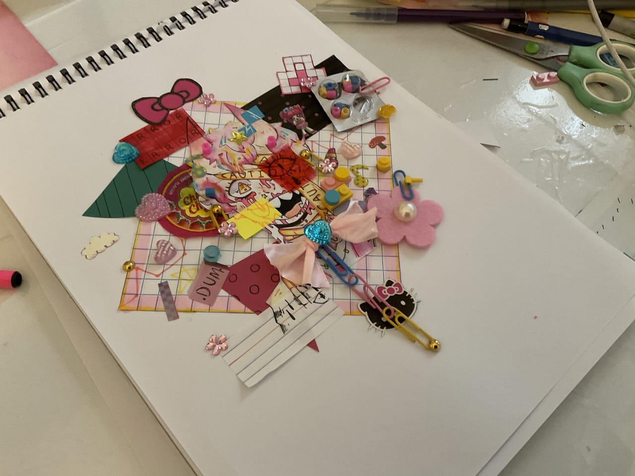 Pink demon boy  Illust of ☆miralikescupcakes8☆ boy demon Miralikescupcakes8 kidcore oc pink AnalogDrawing devil
