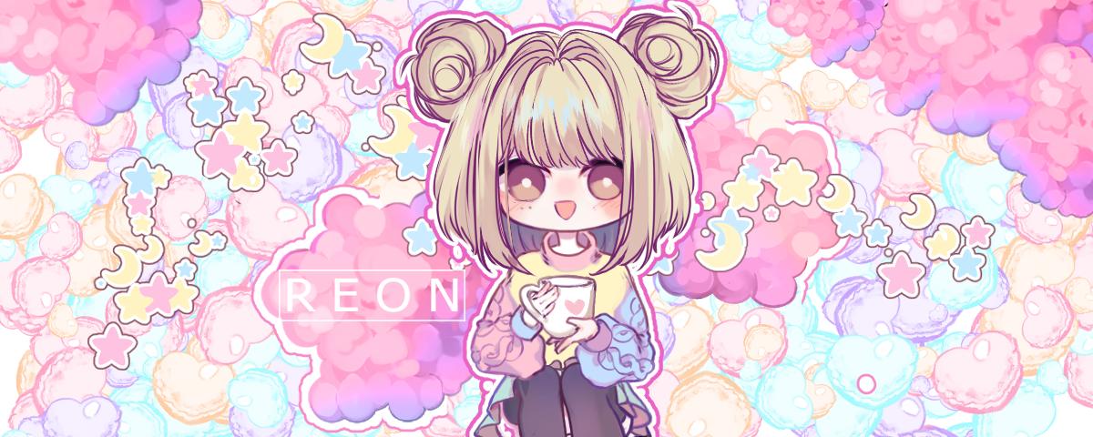 [Commission] Twitch Portrait Illust of R E O N pink Artwork CLIPSTUDIOPAINT oc cute art drawing kawaii medibangpaint anime