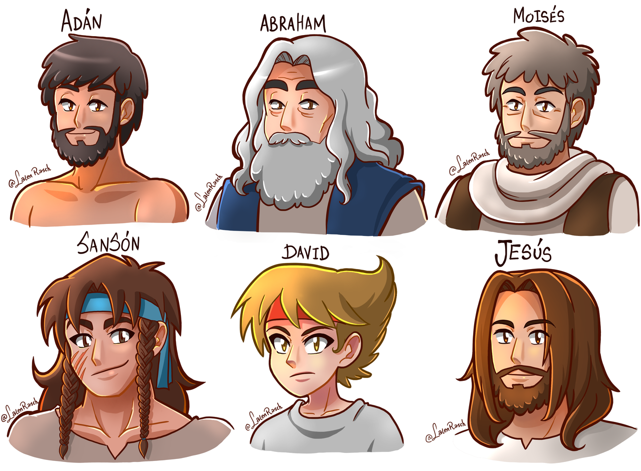 biblical characters. Holy week special Illust of LalenRasch Cristo es rey! digital drawing bible digitalwork illustrations illustration Jesus animestyle