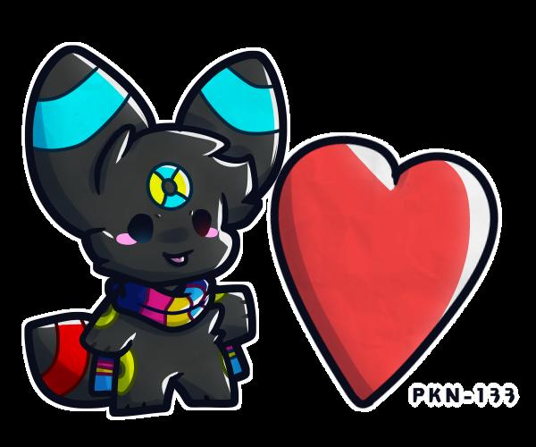 Jake gives you a ❤️ Illust of ✨ PKN-133 ✨ medibangpaint Jaketheumbreon chibi furry oc digital cute PKN-133 pokemon heart