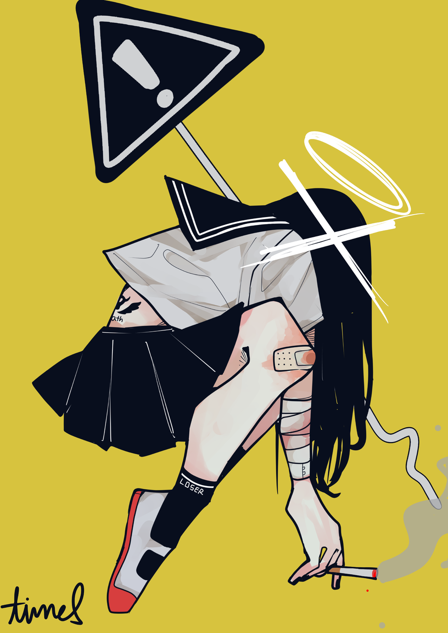 Illust of James medibangpaint uniform girl 黒髪